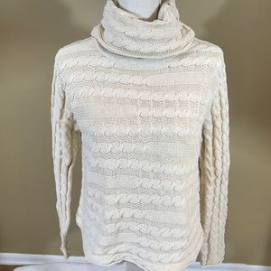525 America Turtleneck Cable Sweater